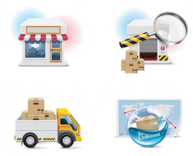 Vector shopping icon set and elements. Part 1
