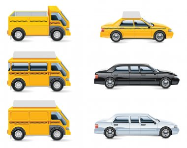 Vector taxi service icons. Part 3