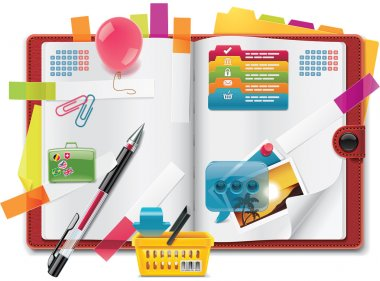 Vector personal organizer features XXL icon