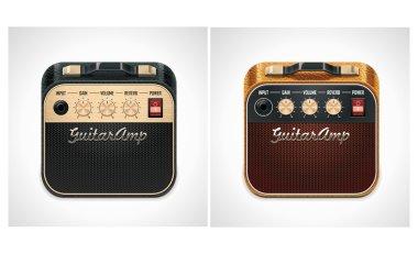 Vector guitar amplifier square XXL icon
