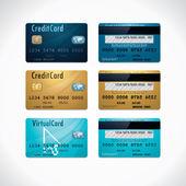 Fényképek Vektor hitelkártyák