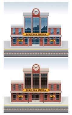 Vector railway station icon
