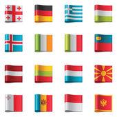 Fotografia bandiere vettoriale. Europa, parte 2