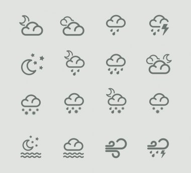 Vector weather forecast icons. Part 2
