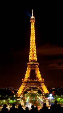 Eiffel Tower in light at night