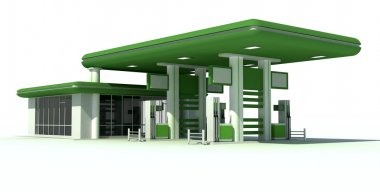 Gas station 3d