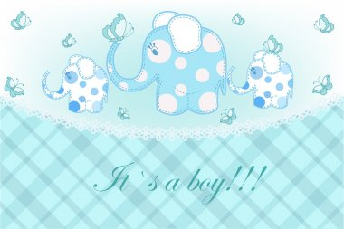 Beautiful childrens card for the boy