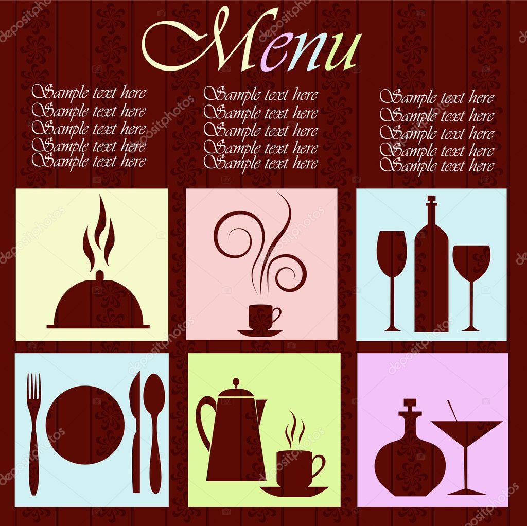 The menu restaurant stock vector ykononova 8978994 the menu restaurant stock vector 8978994 sciox Images