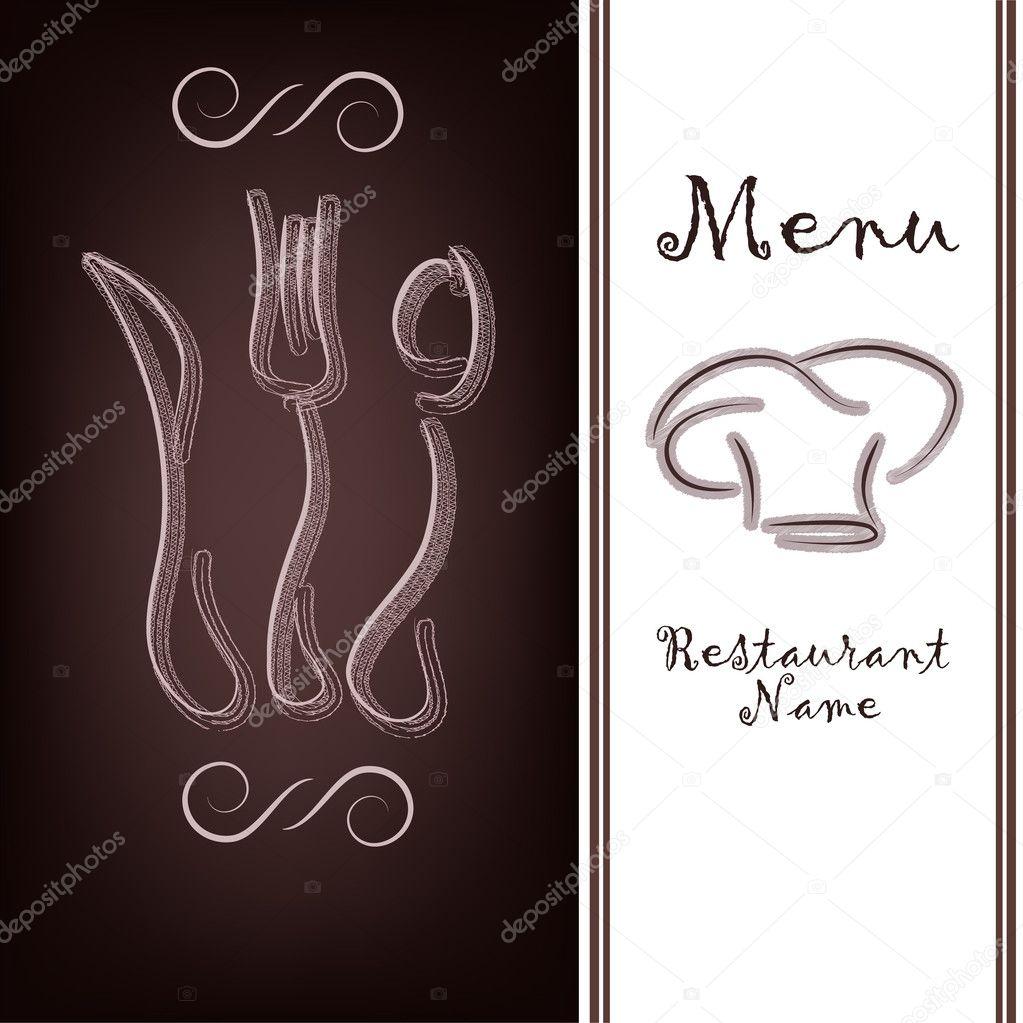 la muestra de la carta del restaurante — Vector de stock © ykononova ...