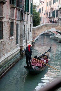Gondolier and gondola