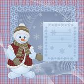 Vánoční design s sněhulák