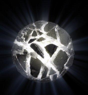 Exploding spherical planetoid