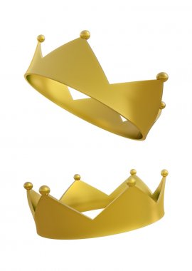 Isolated CG crown illustration