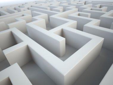 Maze close-up - complex problem solving concept
