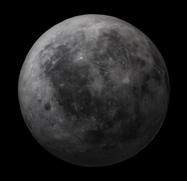Dark side of the Moon - high resolution image