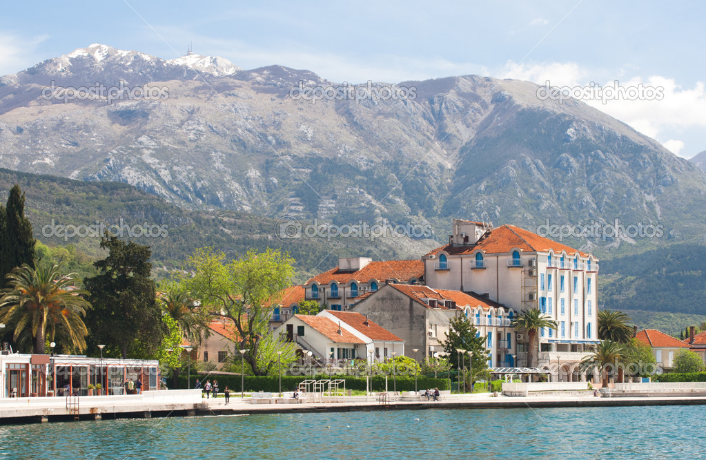 Seaside landscape in Montenegro