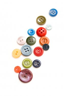 Buttons on the white background stock vector