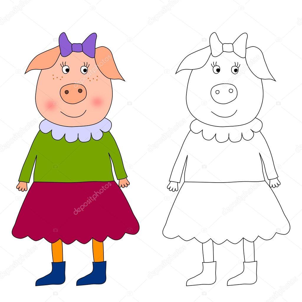 Piggy - libro para colorear — Foto de stock © evarin20 #10216409