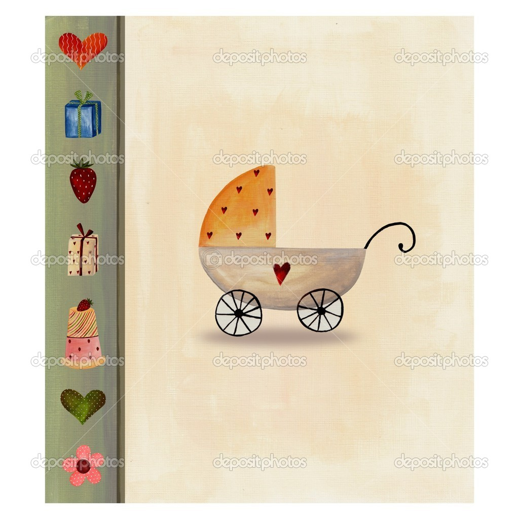 collage baby arrival announcement card stock photo evarin20