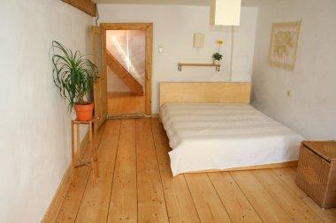 Wooden floor bedroom in house