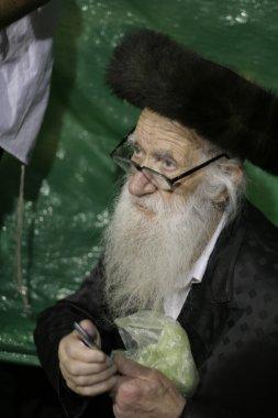 Old Lag Baomer pilgrim with beard during the festivities.