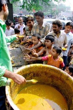 Children begging for food