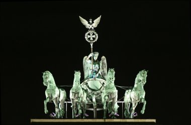 Close up of brandenburger tor statue, berlin, germany