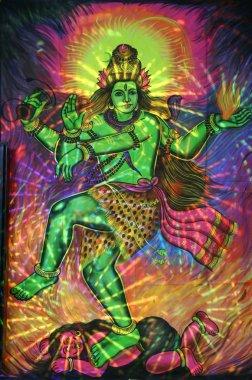 Painting of dancing shiva, pushkar, india