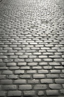 Cobbled street in europe