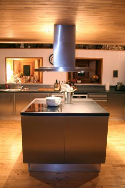 Kitchen top at night