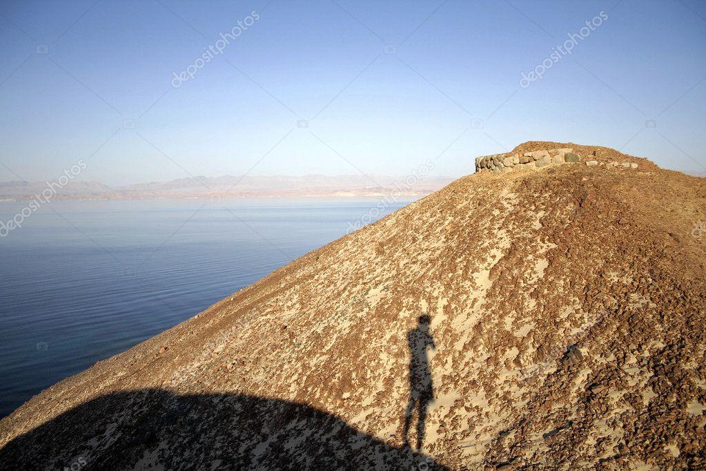 Hill on red sea beach, sinai, egypt