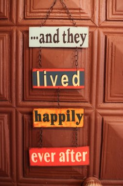 Happiness door sign