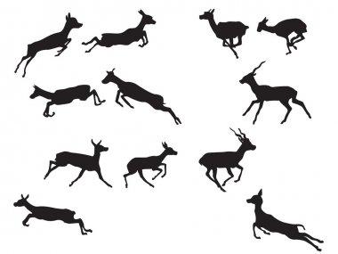 Gazelle silhouettes