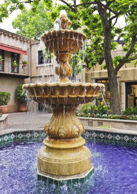 A Lovely Fountain in a Mexican Courtyard