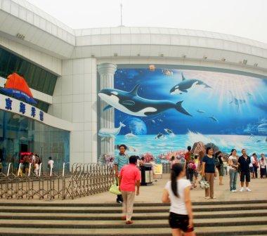 A View of the Beijing Aquarium Entrance