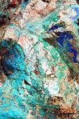 egy közeli pillantást az intenzív zöldek és a kékek malachit és a azurite