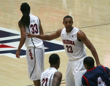 A Direction from Derrick Williams in an Arizona Basketball Game