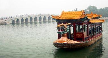 A Dragon Boat and the South Lake Island Bridge