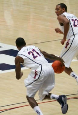 A Fogg Williams Fast Break in an Arizona Basketball Game