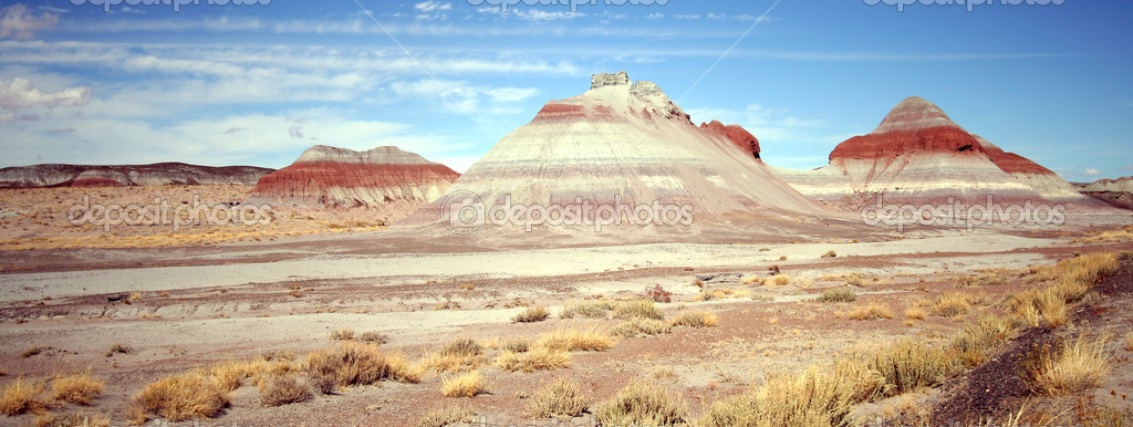 A View of the Tepees in Petrified Forest