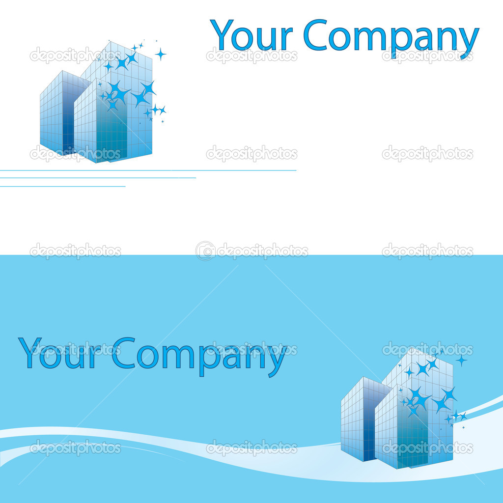 Building business card for your company — Stock Vector © vip76 ...