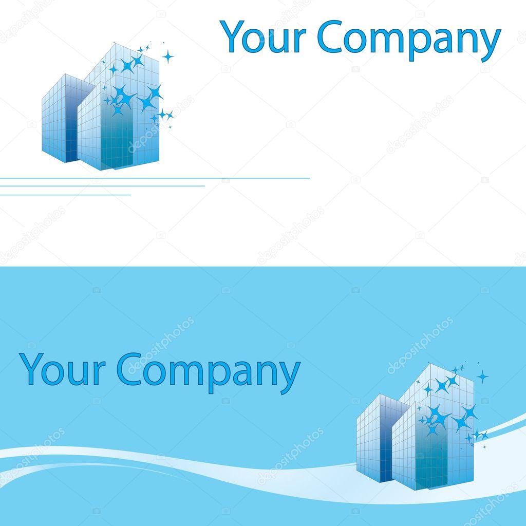 Carte De Visite Du Btiment Pour Votre Entreprise Image Vectorielle