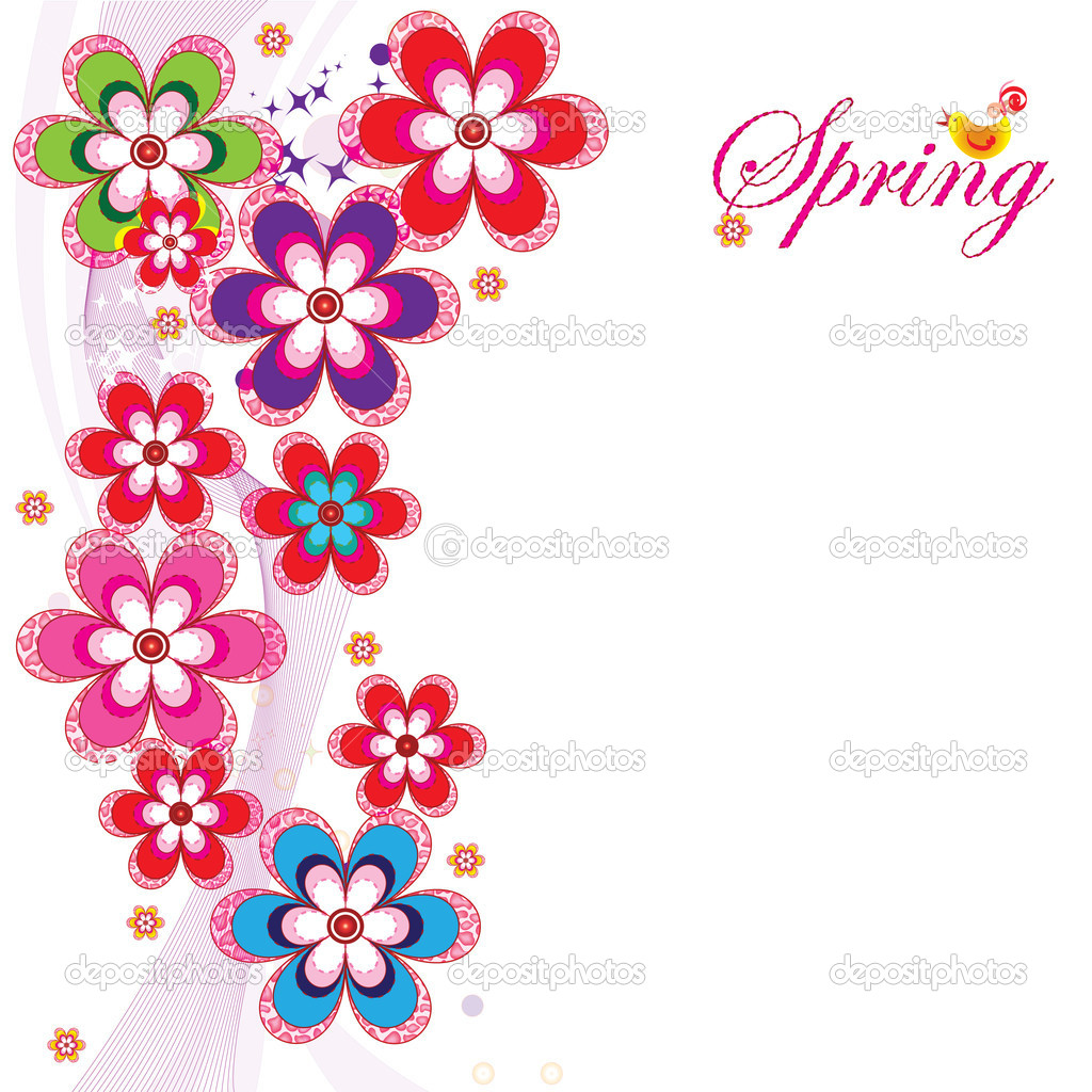 Spring postcard illustration for your web site or postcards