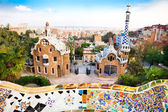 Barevná architektura od Antonia Gaudího v parku guell