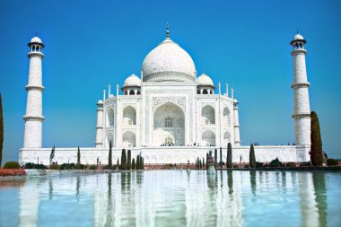 World wonder Taj Mahal in soft daily light