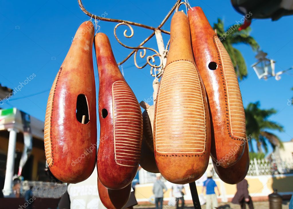 Famous cubbean instrument made from fruit, Trinidad , Cuba