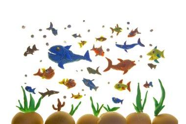 Plasticine fishes
