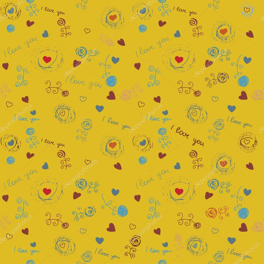 Vintage Flower Wallpaper Pattern Stock Vector