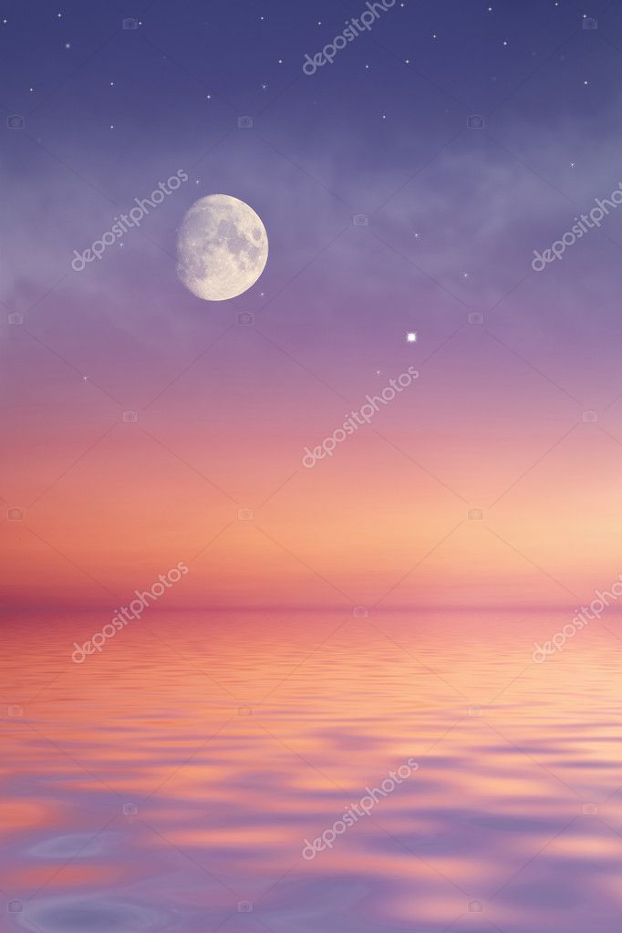 Moon at sea