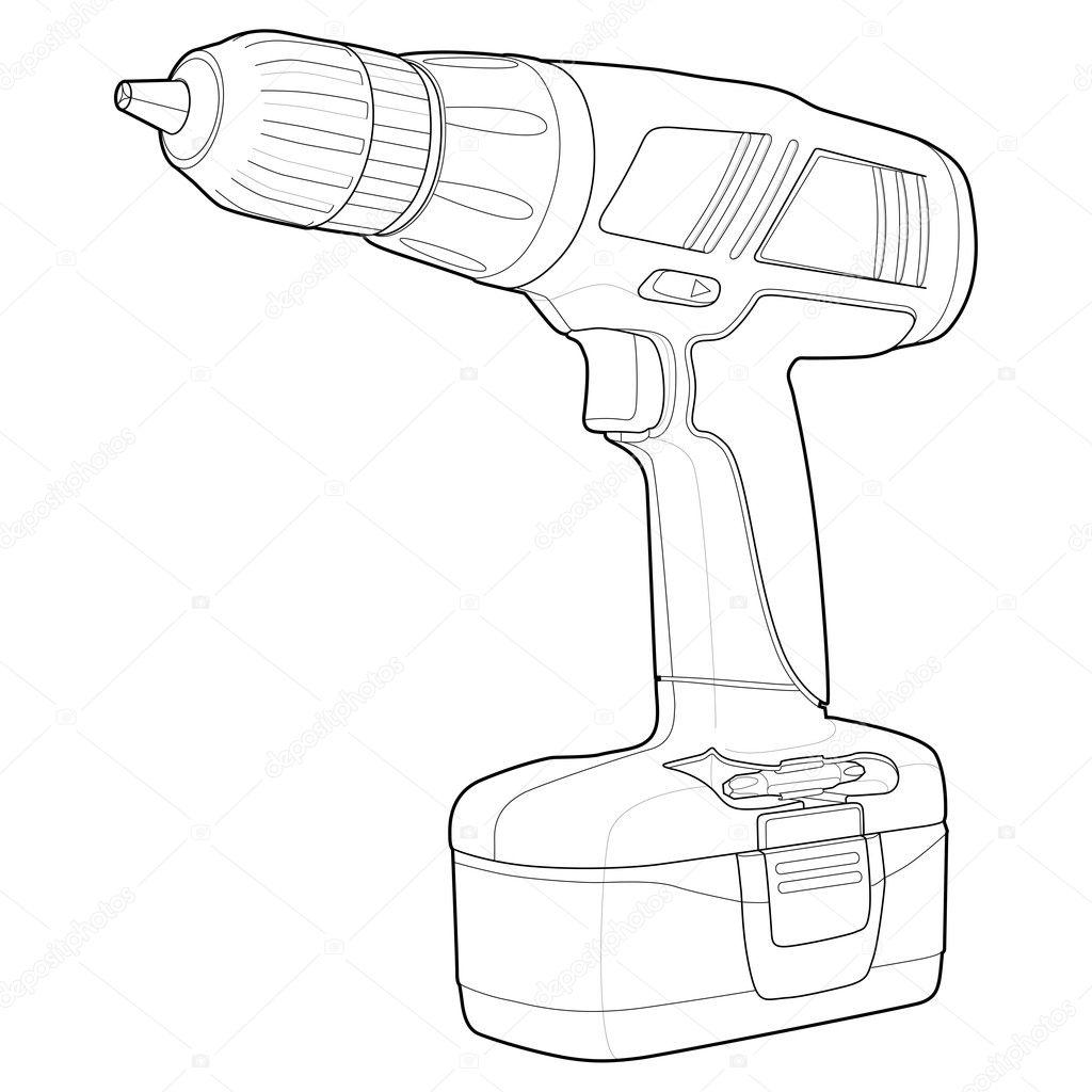 drill outline  u2014 stock vector  u00a9 gleighly  8372848